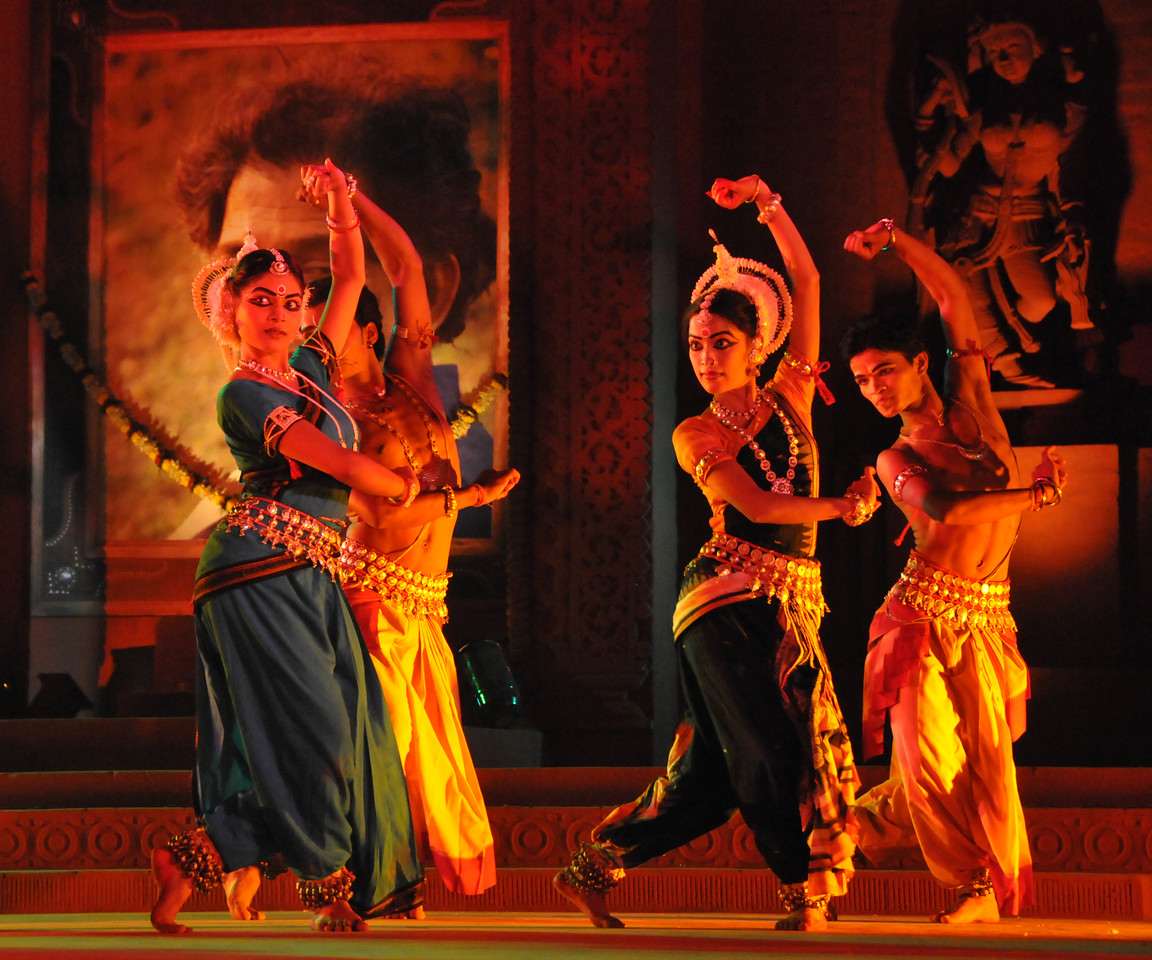 "Odissi Dance by Konark Natya Mandap, Konark.<br /> <br /> The Konark Dance & Music Festival 2011 held from February, 19th to 23rd, organized by Konark Natya Mandap. The festival takes place in an open-air auditorium and enlivens the spirit of the sculptures of Konark temple which is just a short distance away.<br /> <br /> The objectives of the Konark Natya Mandap are to preserve, promote, and project the rich cultural heritage of Orissa and to infuse cultural awareness in the minds of all. Started with painstaking efforts of internationally renowned Odissi dance teacher Guru Gangadhar Pradhan who unfortunately passed away last year. For more details on the festival see  <a href=""http://www.konarknatyamandap.org/"">http://www.konarknatyamandap.org/</a>"