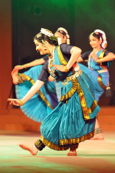 "Nrityakalamandiram, Bangalore performing Bharat Natyam.<br /> <br /> The Konark Dance & Music Festival 2011 held from February, 19th to 23rd, organized by Konark Natya Mandap. The festival takes place in an open-air auditorium and enlivens the spirit of the sculptures of Konark temple which is just a short distance away.<br /> <br /> The objectives of the Konark Natya Mandap are to preserve, promote, and project the rich cultural heritage of Orissa and to infuse cultural awareness in the minds of all. Started with painstaking efforts of internationally renowned Odissi dance teacher Guru Gangadhar Pradhan who unfortunately passed away last year. For more details on the festival see  <a href=""http://www.konarknatyamandap.org/"">http://www.konarknatyamandap.org/</a>"