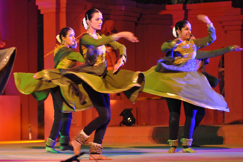 "Nadam group from, Bangalore performed the Kathak Dance at Konark.<br /> <br /> The Konark Dance & Music Festival 2011 held from February, 19th to 23rd, organized by Konark Natya Mandap. The festival takes place in an open-air auditorium and enlivens the spirit of the sculptures of Konark temple which is just a short distance away.<br /> <br /> The objectives of the Konark Natya Mandap are to preserve, promote, and project the rich cultural heritage of Orissa and to infuse cultural awareness in the minds of all. Started with painstaking efforts of internationally renowned Odissi dance teacher Guru Gangadhar Pradhan who unfortunately passed away last year. For more details on the festival see  <a href=""http://www.konarknatyamandap.org/"">http://www.konarknatyamandap.org/</a>"