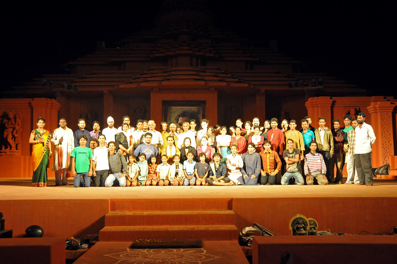 """After a successful event - a group picture. :)<br /> <br /> The Konark Dance & Music Festival 2011 held from February, 19th to 23rd, organized by Konark Natya Mandap. The festival takes place in an open-air auditorium and enlivens the spirit of the sculptures of Konark temple which is just a short distance away.<br /> <br /> The objectives of the Konark Natya Mandap are to preserve, promote, and project the rich cultural heritage of Orissa and to infuse cultural awareness in the minds of all. Started with painstaking efforts of internationally renowned Odissi dance teacher Guru Gangadhar Pradhan who unfortunately passed away last year. For more details on the festival see  <a href=""""http://www.konarknatyamandap.org/"""">http://www.konarknatyamandap.org/</a> and <a href=""""http://konarkfestival.com/"""">http://konarkfestival.com/</a>"""