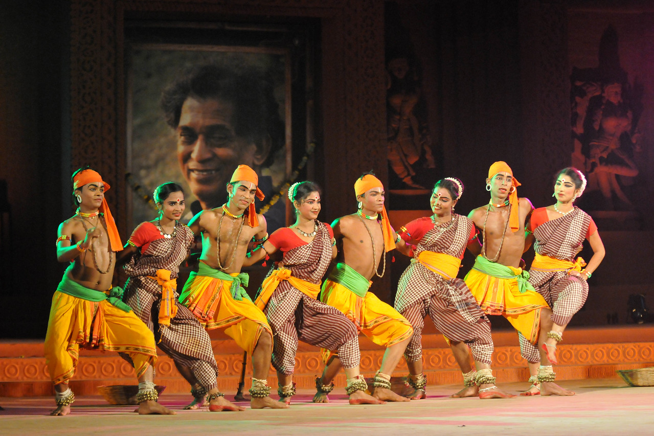 """Chhow Dance by Purulia, West Bengal.<br /> <br /> The Konark Dance & Music Festival 2011 held from February, 19th to 23rd, organized by Konark Natya Mandap. The festival takes place in an open-air auditorium and enlivens the spirit of the sculptures of Konark temple which is just a short distance away.<br /> <br /> The objectives of the Konark Natya Mandap are to preserve, promote, and project the rich cultural heritage of Orissa and to infuse cultural awareness in the minds of all. Started with painstaking efforts of internationally renowned Odissi dance teacher Guru Gangadhar Pradhan who unfortunately passed away last year. For more details on the festival see  <a href=""""http://www.konarknatyamandap.org/"""">http://www.konarknatyamandap.org/</a>"""