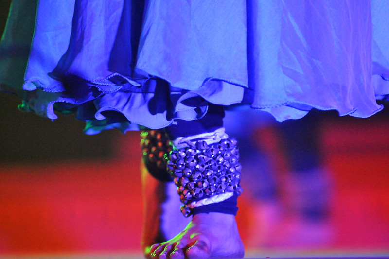 "Ghungaroos worn on the feet are an important part of the Kathak Dance. Kathak performed by Ms Mitha Vinay Bellavi of Nadam, Bangalore.<br /> <br /> The Konark Dance & Music Festival 2011 held from February, 19th to 23rd, organized by Konark Natya Mandap. The festival takes place in an open-air auditorium and enlivens the spirit of the sculptures of Konark temple which is just a short distance away.<br /> <br /> The objectives of the Konark Natya Mandap are to preserve, promote, and project the rich cultural heritage of Orissa and to infuse cultural awareness in the minds of all. Started with painstaking efforts of internationally renowned Odissi dance teacher Guru Gangadhar Pradhan who unfortunately passed away last year. For more details on the festival see  <a href=""http://www.konarknatyamandap.org/"">http://www.konarknatyamandap.org/</a>"