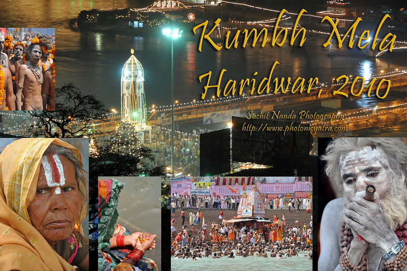 Kumbh Mela, Haridwar.<br /> <br /> Kumbh Mela is the biggest religious gatherings on the planet which takes places on the banks of the river Ganga. The number of pilgrims this year is expected to exceed around five million since the first day Jan 14 till the time it concludes on April 28, 2010. The auspicious days of the shahi snan or royal baths usually draw hundreds of thousands of devotees to the Har Ki Paudi and other banks of the river. Uttarakhand. North India.