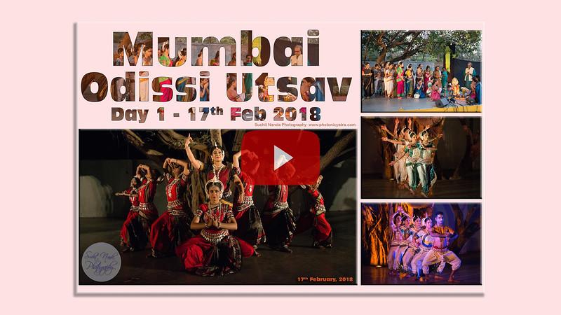 Short video clip of Mumbai Odissi Utsav Day 1 - 17th Feb 2018. Mumbai Odissi Utsav 2018 organised jointly by Samskriti Cultural Society, festival founder Shyamhari Chakra and Namrata Mehta from Kaishiki Dance Academy, Mumbai.