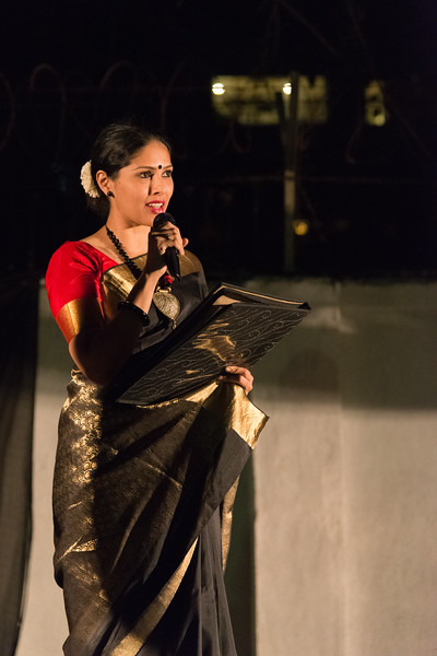 Prachi Save Saathi, compère for Mumbai Odissi Utsav, Day 1 - 17th Feb 2018.