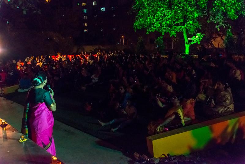 Smt Daksha Mashruwala, addressing the gathering at Mumbai Odissi Utsav. Day 1 - 17th Feb 2018.