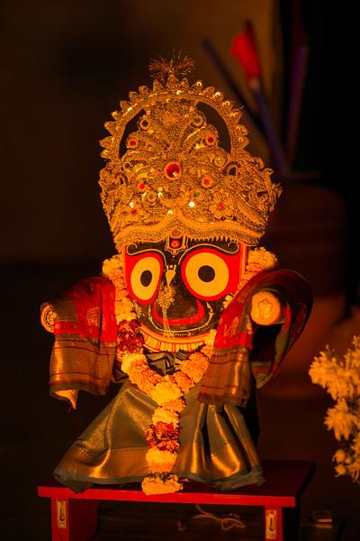 Lord Jagannath. Mumbai Odissi Utsav Day 2 - 18th Feb 2018 at Sangit Mahabharati, Juhu Scheme (JVPD), 400049 Mumbai, Maharashtra.