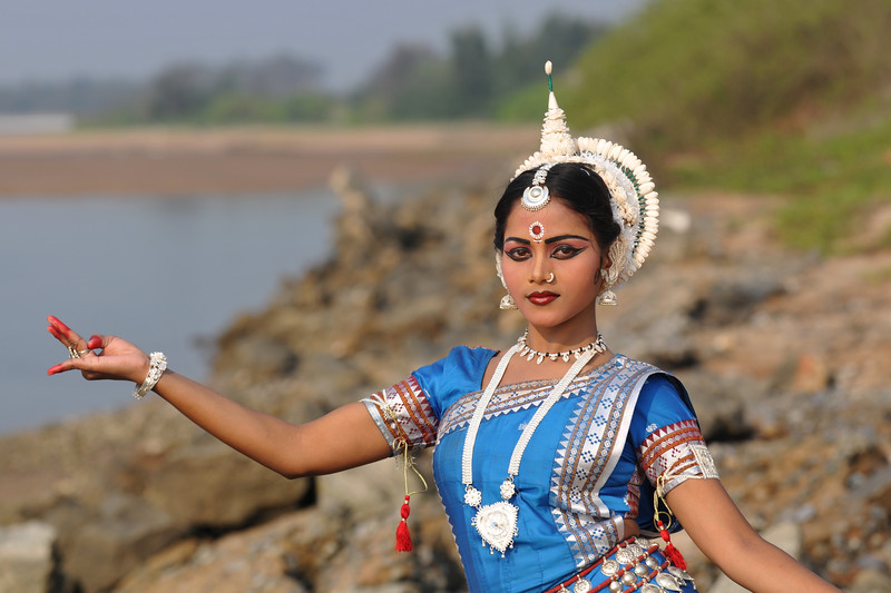 "Mita Pradhan, Odissi dancer of the Konark Natya Mandap at the Konark Beach shot during the Konark Dance & Music Festival located close to the famous Konark Sun temple.<br /> <br /> These dancers have been mentored by the renowned Odissi dance teacher Guru Gangadhar Pradhan who unfortunately passed away last year. For more details on the festival and the organizers, take a look at:  <a href=""http://konarkfestival.com/"">http://konarkfestival.com/</a> and  <a href=""http://www.konarknatyamandap.org/"">http://www.konarknatyamandap.org/</a>"