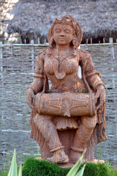 Stone sculptures near Konark Beach at the Lotus Riverside Beach Resort, Ramchandi beach, Konark.