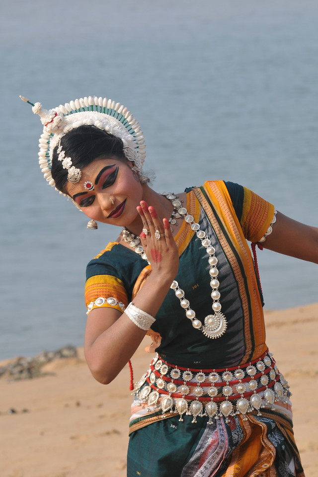 "Rasmi Rekha Mahant - Odissi dancers of the Konark Natya Mandap at the Konark Beach shot during the Konark Dance & Music Festival and close to the famous Konark Sun temple.<br /> <br /> These dancers have been mentored by the renowned Odissi dance teacher Guru Gangadhar Pradhan who unfortunately passed away last year. For more details on the festival and the organizers, take a look at:  <a href=""http://konarkfestival.com/"">http://konarkfestival.com/</a> and  <a href=""http://www.konarknatyamandap.org/"">http://www.konarknatyamandap.org/</a>"