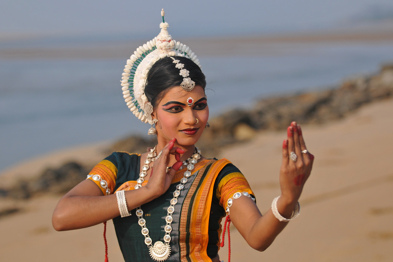 "Rasmi Rekha Mahant. Odissi dancers of the Konark Natya Mandap at the Konark Beach shot during the Konark Dance & Music Festival and close to the famous Konark Sun temple.<br /> <br /> These dancers have been mentored by the renowned Odissi dance teacher Guru Gangadhar Pradhan who unfortunately passed away last year. For more details on the festival and the organizers, take a look at:  <a href=""http://konarkfestival.com/"">http://konarkfestival.com/</a> and  <a href=""http://www.konarknatyamandap.org/"">http://www.konarknatyamandap.org/</a>"
