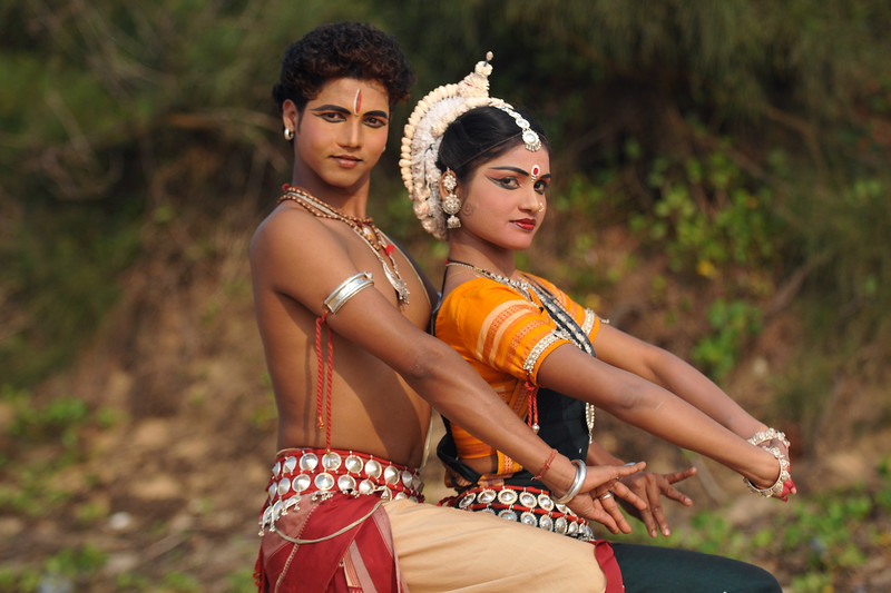 "Sachikanta Pradhan as Shiva & Rasmi Rekha Mahant as Parvathy. Odissi dancers of the Konark Natya Mandap at the Konark Beach shot during the Konark Dance & Music Festival and close to the famous Konark Sun temple.<br /> <br /> These dancers have been mentored by the renowned Odissi dance teacher Guru Gangadhar Pradhan who unfortunately passed away last year. For more details on the festival and the organizers, take a look at:  <a href=""http://konarkfestival.com/"">http://konarkfestival.com/</a> and  <a href=""http://www.konarknatyamandap.org/"">http://www.konarknatyamandap.org/</a>"
