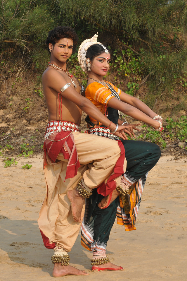 "Shiva (Sachikanta Pradhan) & Parvathy (Rasmi Rekha Mahant). Odissi dancers of the Konark Natya Mandap at the Konark Beach shot during the Konark Dance & Music Festival and close to the famous Konark Sun temple.<br /> <br /> These dancers have been mentored by the renowned Odissi dance teacher Guru Gangadhar Pradhan who unfortunately passed away last year. For more details on the festival and the organizers, take a look at:  <a href=""http://konarkfestival.com/"">http://konarkfestival.com/</a> and  <a href=""http://www.konarknatyamandap.org/"">http://www.konarknatyamandap.org/</a>"