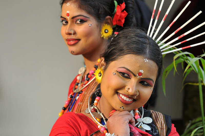 Sarita Mohanty & Nandita Tripathy are both from Orissa and they performed the Sambhalpuri dance. Different artists at Suraj Kund Mela 2008, Haryana, North India. The Suraj Kund Mela is an annual fair held near Delhi. Folk dances, handicrafts and a lot of fun.