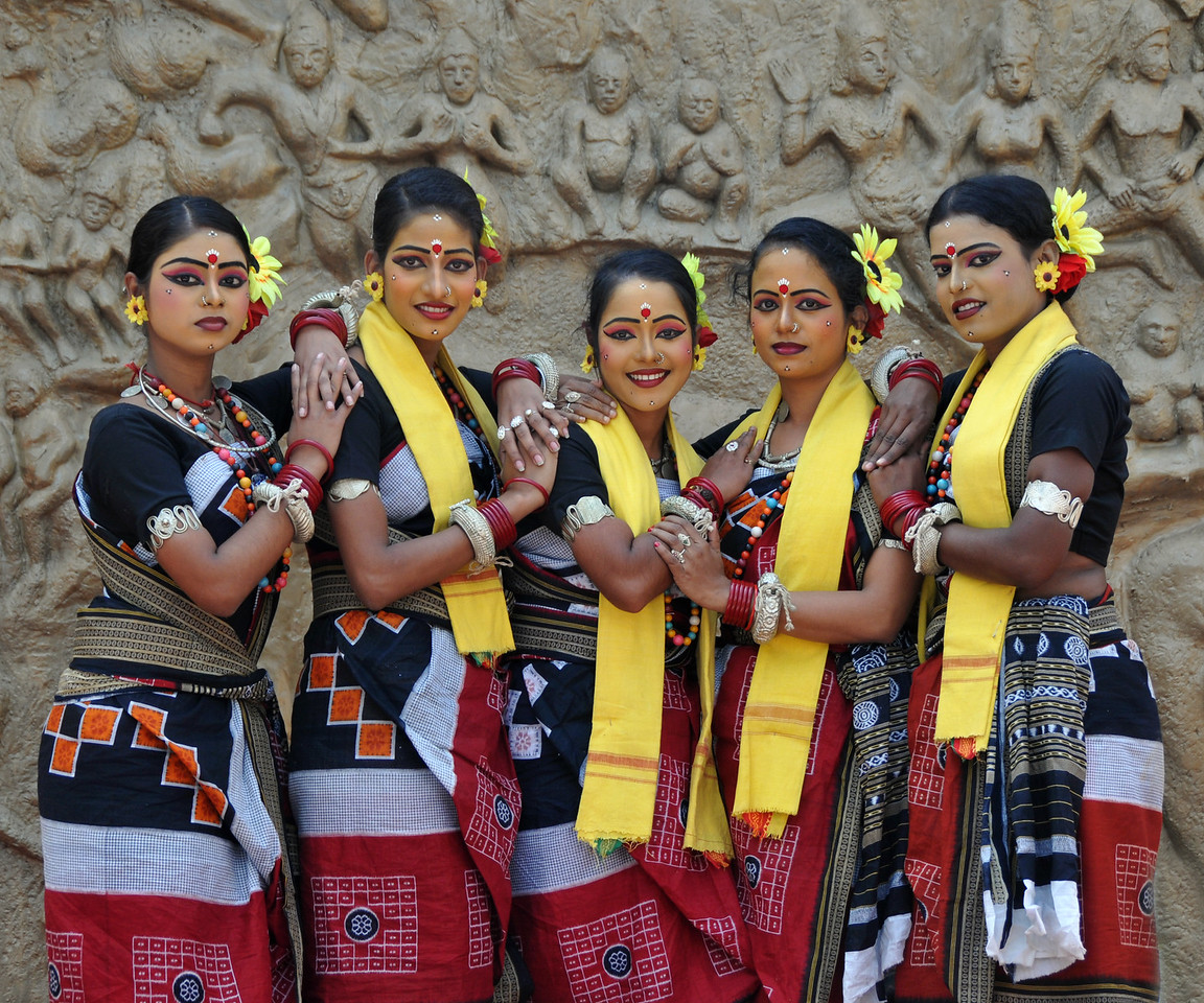 Dayal Sangeet Academy group from Rasulgargh, Bhubaneshwar, Orissa at Surakund Mela.<br /> <br /> Surajkund Crafts Mela 2011 held near Delhi in Faridabad, Haryana, North India. The annual Suraj Kund Mela (fair) is an event held in February each year where artisans, craftsmen, musicians & dancers come together and entral thousands of visitors. It is also a great shopping bonanza and delight to the palate with the range of food.