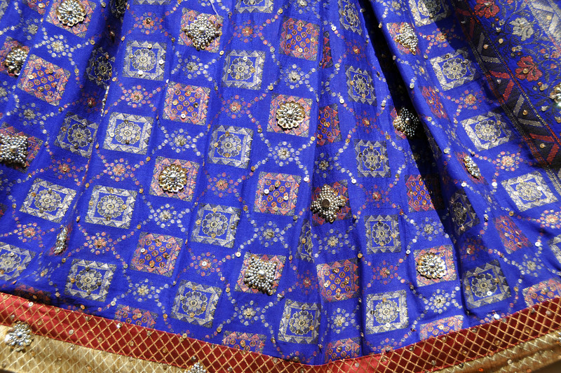 Beautiful sarees on display and for sale at the mela.<br /> <br /> Surajkund Crafts Mela 2011 held near Delhi in Faridabad, Haryana, North India. The annual Suraj Kund Mela (fair) is an event held in February each year where artisans, craftsmen, musicians & dancers come together and entral thousands of visitors. It is also a great shopping bonanza and delight to the palate with the range of food.