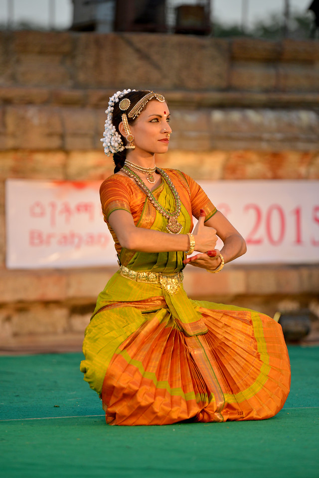 "Valérie Kanti Fernando, student of Sri Rajarajeswari Bharatha Natya Kala Mandir and disciple of Guru Harikrishna Kalyanasundaram, performed at the Brahan Natyanjali 2015, Big Temple, Thanjavur, Tamil Nadu, 19th February, 2015. <a href=""http://brahannatyanjali.in/"">http://brahannatyanjali.in/</a>"