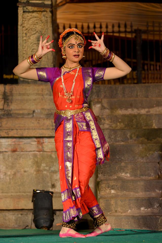"Performance by Sri Sai Nataraja Academy of Kuchipudi Dance, Hyderabad. Guru Ms Lavanya Basava. Brahan Natyanjali 2015, Big Temple, Thanjavur, Tamil Nadu, 19th February, 2015, <a href=""http://brahannatyanjali.in/"">http://brahannatyanjali.in/</a>"