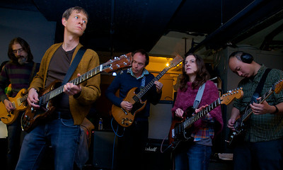 123012, Boston, MA - Members of the Animal Hospital Collective rehearse  for their performance during the First Night Celebration. Herald photo by Ryan Hutton