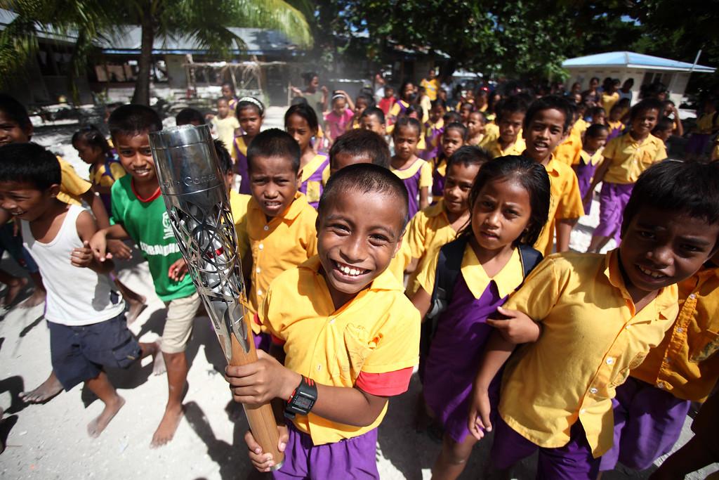 Day 56 of The Glasgow 2014 Queen's Baton Relay in Kiribati