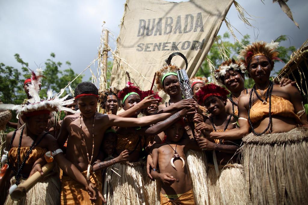 Day 28 of The Glasgow 2014 Queen's Baton Relay in Papua New Gunea