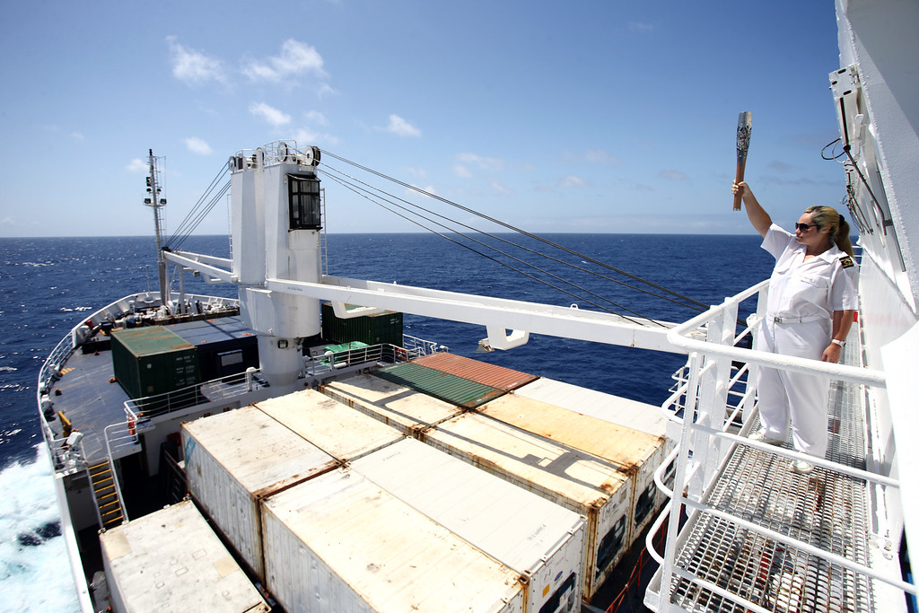 Day 131 of the The Glasgow 2014 Queen's Baton Relay on the RMS St. Helena