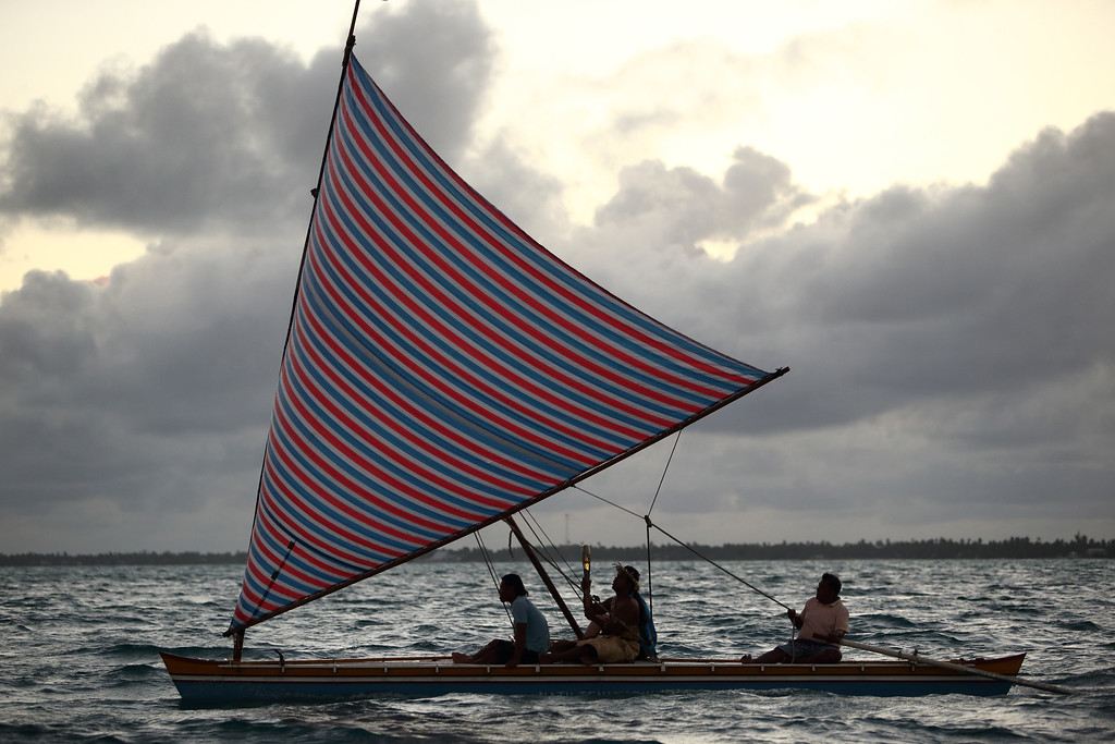 Day 57 of The Glasgow 2014 Queen's Baton Relay in Kiribati