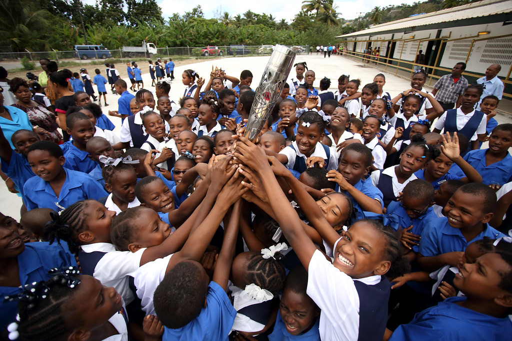 Day 161 of the The Glasgow 2014 Queen's Baton Relay in Saint Lucia