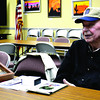 Bill Dasenbrock recounts his experiences serving during World War II in an audio recording, which will be filed at the Library of Congress. The recording, which is part of the National Historical Project, also will be available for listeners at the Helen Matthes Library in the next few weeks.