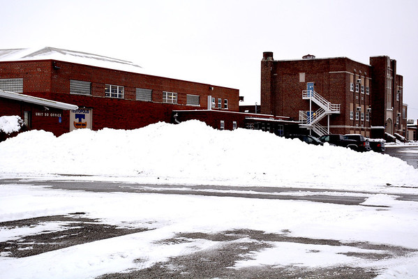 The only thing in Teutopolis Unit 50's school parking lot this week has been snow. Students were off school all week (Jan. 6-10) due to the recent weather.