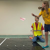 "Abby Mette, 9, of Effingham, throws a handmade paper airplane at the future Helen Matthes Library for the Summer Reading Program kickoff event. ""This is going to be my third year,"" Mette said. The program has already started, but participants may register at any time. Visit  <a href=""http://www.effinghamlibrary.org"">http://www.effinghamlibrary.org</a> or call 217-342-2464 ext. 3 for more information."