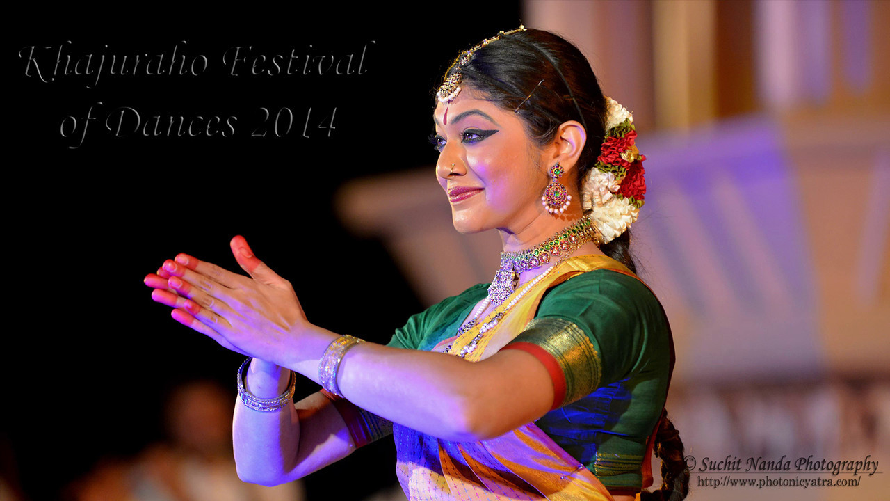 Dakshina Vaidyanathan's Bharatnatyam dance performance at the Khajuraho Festival of Dances February, 2014.