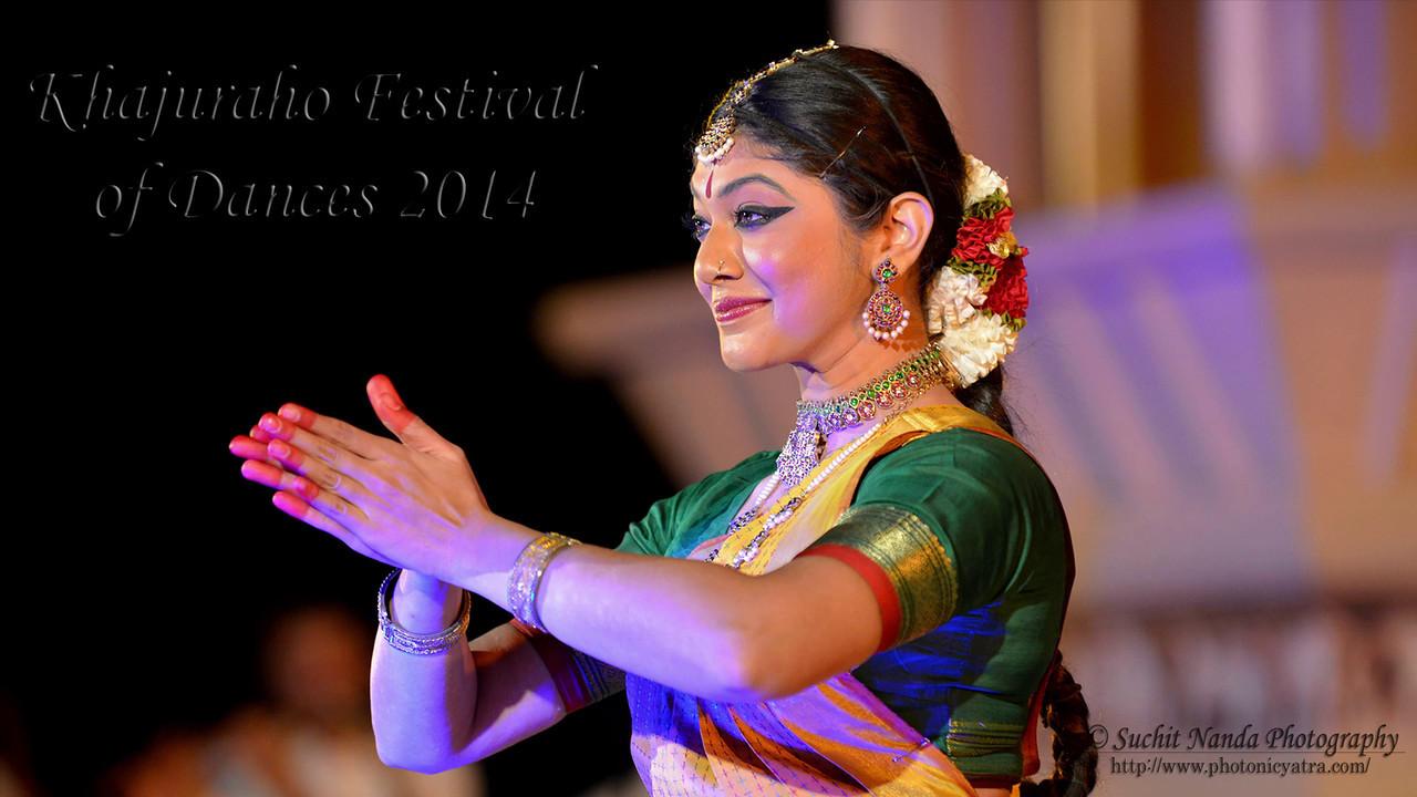 Dakshina Vaidyanathan's Bharatnatyam dance performance at the Khajuraho Festival of Dances February, 2014.