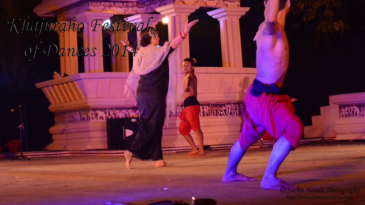Short video of Preeti Patel and Troupe's Manipuri dance. Khajuraho Festival of Dances celebrates the most colorful and brilliant classical dance forms of India.