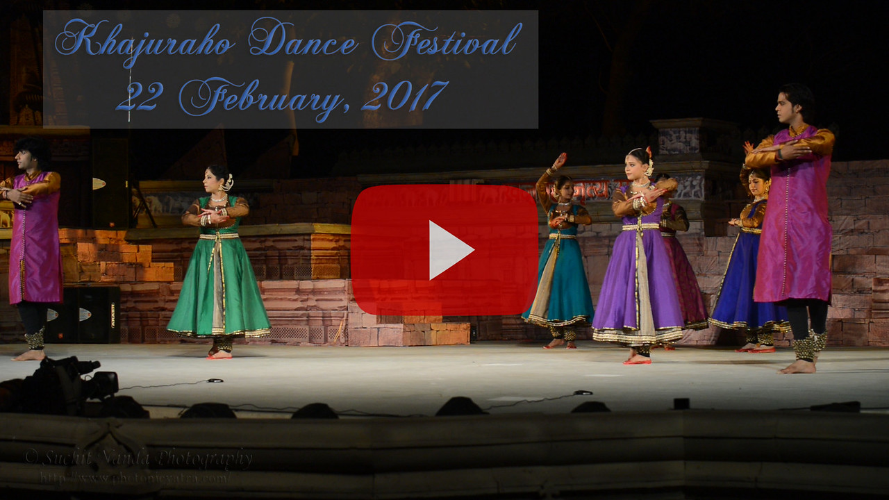 Khajuraho Dance Festival 22nd Feb'17. <br /> Rachna Yadav, New Delhi, Kathak Group<br /> Colorful and brilliant classical dance forms of India with roots in the rich cultural traditions offer a feast for the eyes during a weeklong extravaganza. Khajuraho Temples in Madhya Pradesh are popular for their architectural wonders and sculptures.