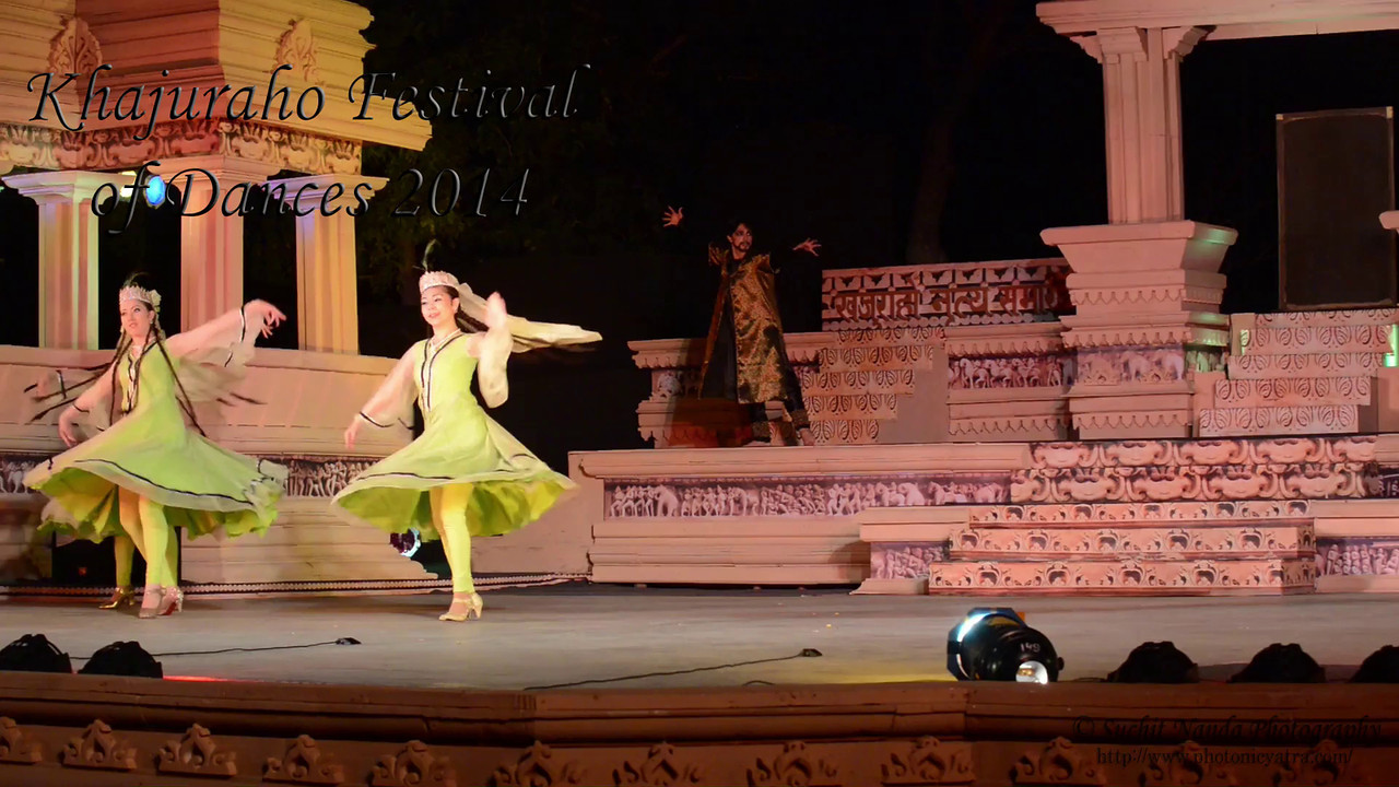 Short video of Kathak and Uzbek dance. Khajuraho Festival of Dances celebrates the most colorful and brilliant classical dance forms of India.