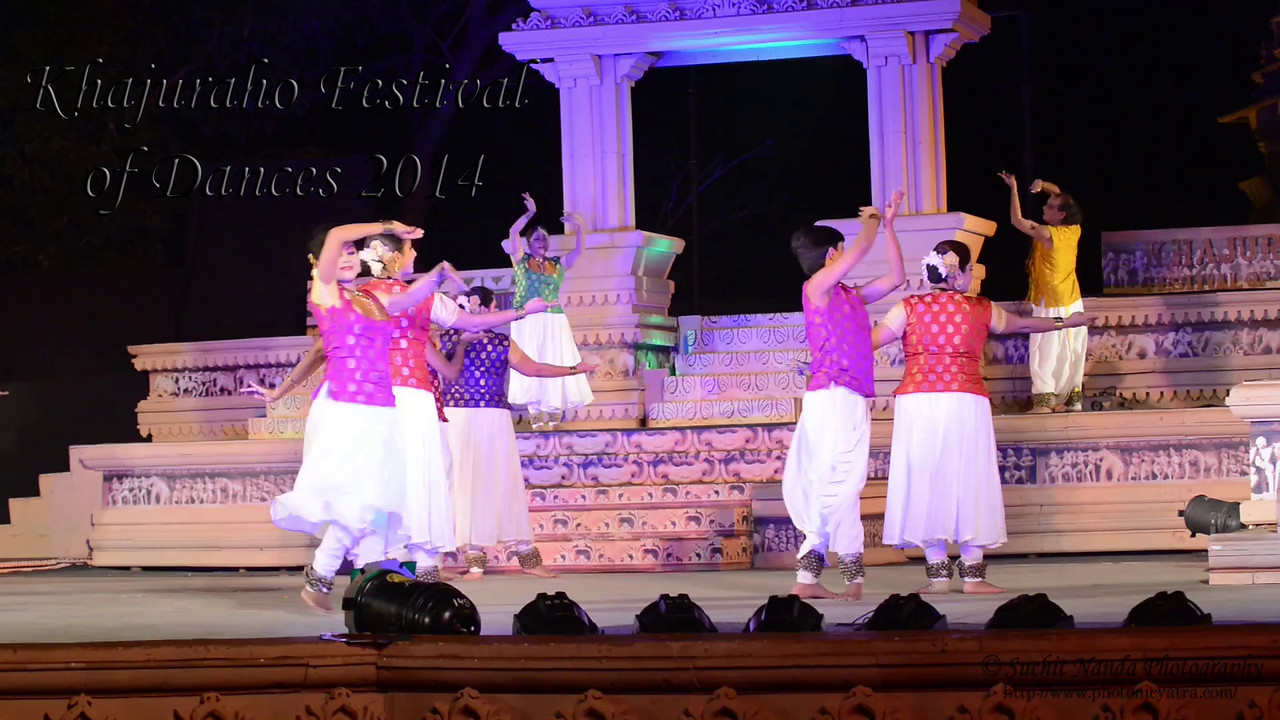 Short video of Ashimbandhu Bhattacharya and Troupe's dance. Khajuraho Festival of Dances celebrates the most colorful and brilliant classical dance forms of India.