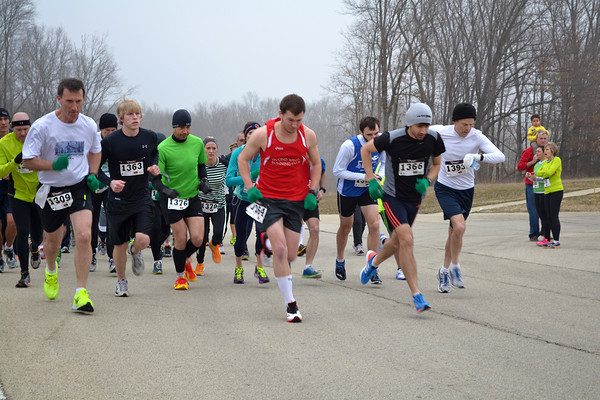 Runners start the 10K race at the Runnin' of the Irish race at the Effingham Performance Center. A 5K and a 10K run/walk was held.