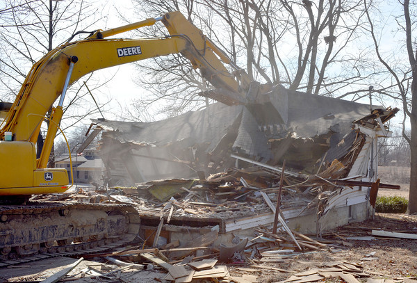 The second of three homes was demolished for the future construction of Marion Eye Center, to be located along Keller Drive.