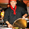 Hibachi chef Dody Suradoarma prepares food for diners at Fujiyama Japanese Restaurant.