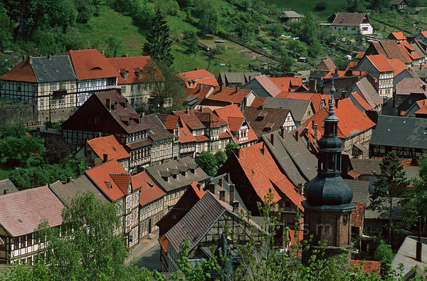 [GERMANY.SACHSENANHALT 11012]  'Stolberg.'  Stolberg, with its many half-timbered houses, is one of the perls of the Harz mountains. Photo Paul Smit.