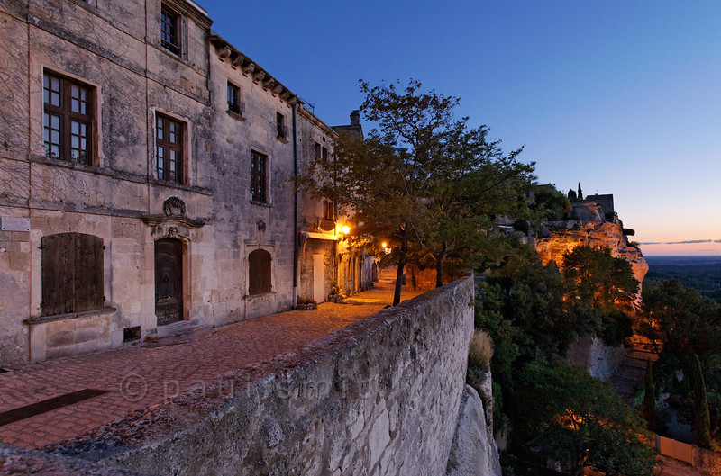[FRANCE.PROVENCE 10764] 'Les Baux-de-Provence.'  Les Baux-de-Provence is one of the most beautiful villages of the Provence. If you don't want to be part of the masses, visit it out of high season or in the evening. Photo Paul Smit.