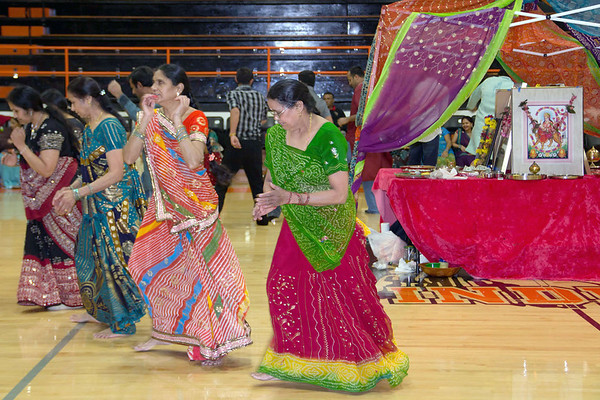 Dancers honored a centerpiece of Goddess Amba Mata with the traditional Garba dance during the celebration Navratri. The celebration was held at the Altamont High School and was attended by more than 100 people, mostly from the local Effingham Indian Community.