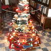 "This ""tree"" consists of a carefully balanced display of books sponsored by the Altamont Public Library. It is one of 18 trees on display at the Wright Mansion in Altamont. The house will be open from 1 to 4 p.m. Nov. 30, Dec. 1,7 and 8."