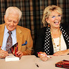 Bill Hayes and Susan Seaforth Hayes, stars of the show ÒDays of Our Lives,Ó sign copies of their book at the Firefly Grill in Effingham. The novel, a historical romance called ÒTrumpet,Ó is the coupleÕs first.