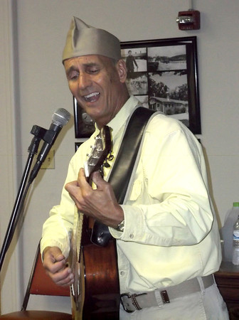 Bill Jamerson sings at the Civilian Conservation Corps presentation.