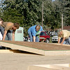 Volunteers begin work on the future home of Becky Lankford and her family in Dieterich.