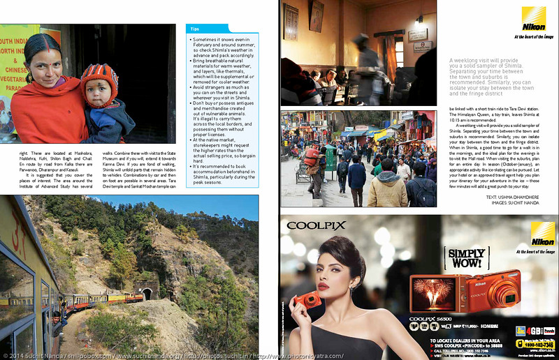 "Asian Photography <a href=""http://www.asianphotographyindia.com/"">http://www.asianphotographyindia.com/</a> April 2014 Issue - Shoot My City Feature Article - ""Shimla"" pictures by Suchit Nanda.<br /> <br /> Asian Photography is India's premier and oldest photography magazine.<br /> <br /> You can see the higher resolution images at: <a href=""http://www.photonicyatra.com/"">http://www.photonicyatra.com/</a>"