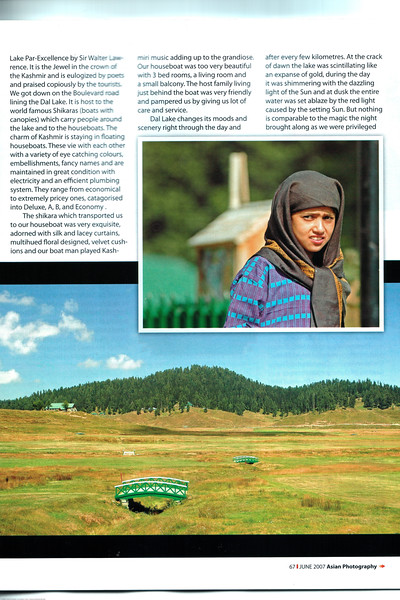 "Asian Photography June 2007  <a href=""http://www.asianphotographyindia.com/"">http://www.asianphotographyindia.com/</a> Travel Feature Article by Anu & Suchit Nanda"