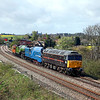 47798, 4468 'MALLARD' & 4771 'GREEN ARROW' at Pontefract (M62 Embankment)